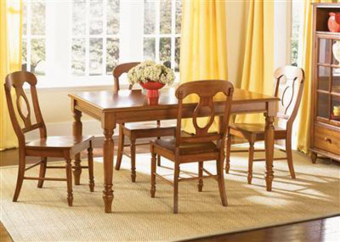 76 Low Country Rectangle Table w/4 chairs,Liberty Furniture Industries