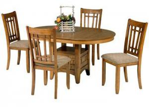 25 Santa Rosa Pedestal Table w/4 chairs