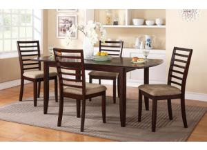 DB14072C Brownstown Butterfly Leaf Table w/ 4 chairs