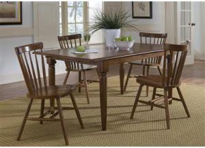 38 Creations II Butterfly Leaf Table w/4 chairs,Liberty Furniture Industries