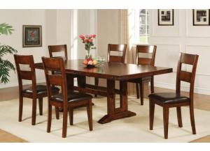 DMG4492 Mango Trestle Table w/ Butterfly leaf & 6 chairs