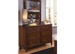 628 Chelsea Square Double Dresser,Liberty Furniture Industries