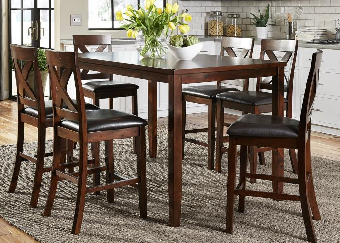 Thornton 7-pc Gathering Table Dining Set,Liberty