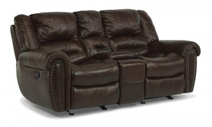 Crosstown Leather Reclining Sofa,Flexsteel
