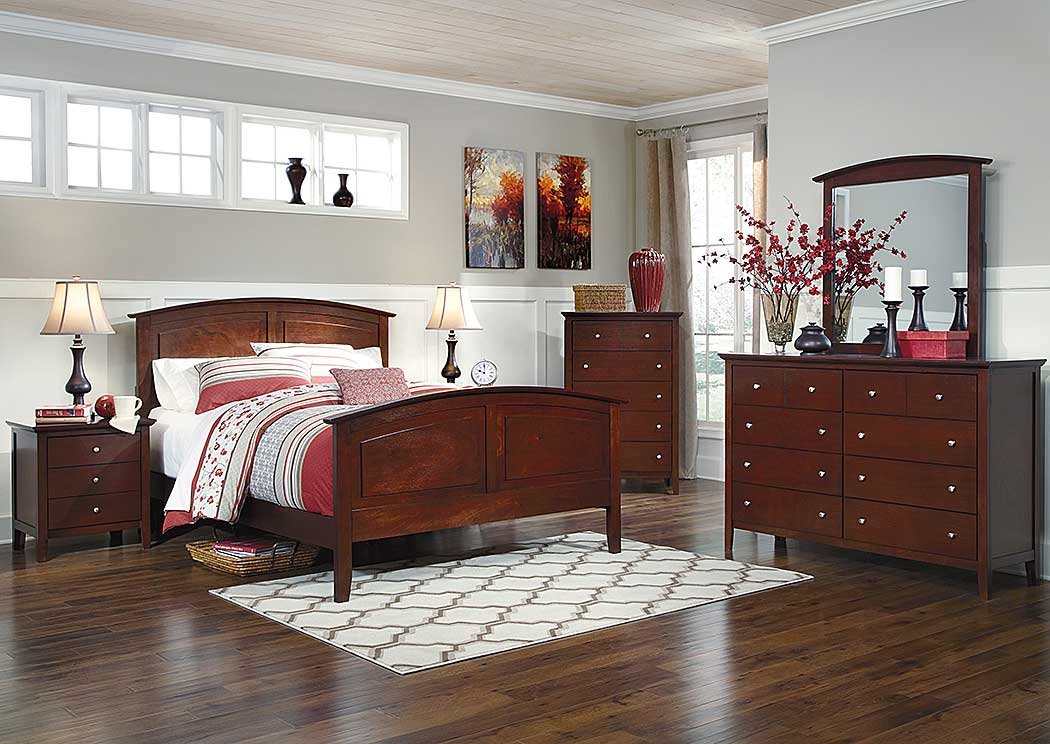 Colestead Queen Sleigh Bed, Dresser, Mirror, Chest & Night Stand,Benchcraft