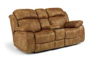 Como Latitudes NuvoLeather Gliding Reclining Loveseat