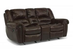 Crosstown Leather Reclining Sofa