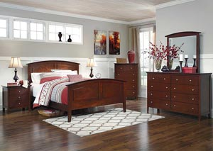Colestead Queen Sleigh Bed, Dresser, Mirror, Chest & Night Stand