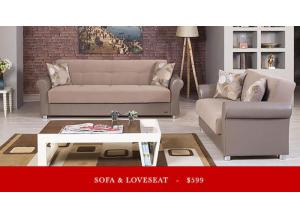 Festival Sofa Bed and Love Seat