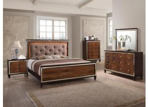 Clair Queen Bed Dresser Mirror Chest and 1 Nightstand