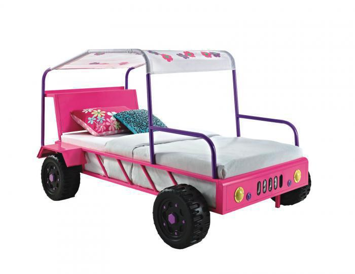 Pink Twin Jeep Bed,FREIGHT SPECIALS