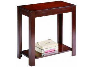 Pierce Espresso Chair Side Table