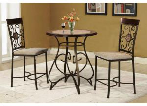 Faux Marble & Wood Bistro Dinette
