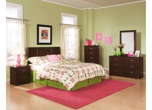 Briar Cherry Full/Queen Panel Headboard, Dresser, Mirror and Nightstand