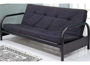 Black Metal Futon Frame (Mattress Extra)