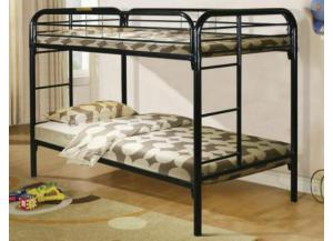 Black Metal Twin/Twin Bunkbed
