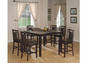 Fulton Butterfly Leaf Dinette with 4 Counter Height Stools