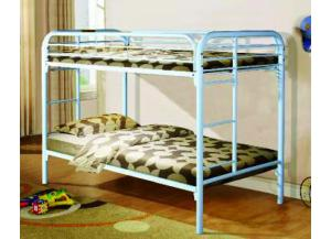 White Twin Metal Bunkbed