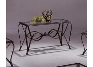 Monarch Glass and Metal Sofa Table