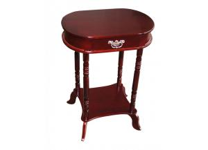 Mahogany Finish Oval End Table