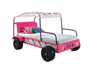 Pink Twin Jeep Bed