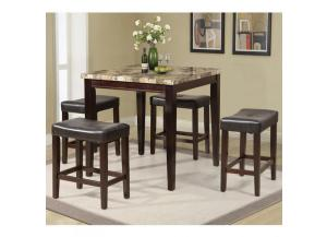 Faux Marble Casual Dining Set