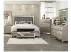 Glamorous Silver Queen Bedroom Group