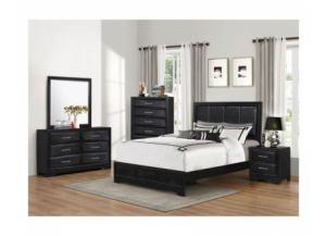 Lacquer Black 5 Drawer Chest