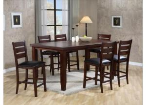 Bardstown Counter Height Dinette with Table and 4 Chairs,Crown Mark Furniture