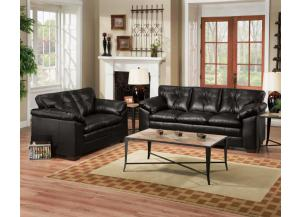 Sebring Black Sofa and Loveseat