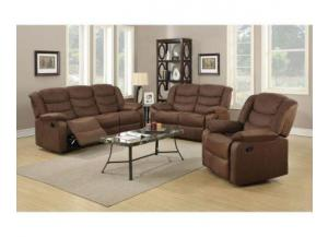 Cocoa Microfiber Reclining Sofa Part 86