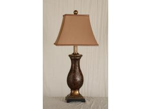 Table Lamp Brown and Gold Finish