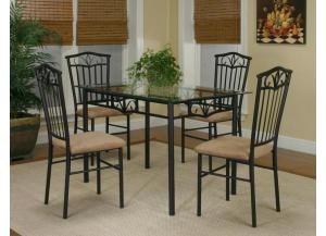 Laurel Dinette Table and 4 Chairs