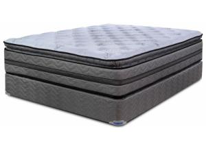 Victor Plush Pillowtop Twin Mattress & Foundation
