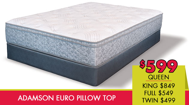 Adamson Euro Pillow Top Mattress