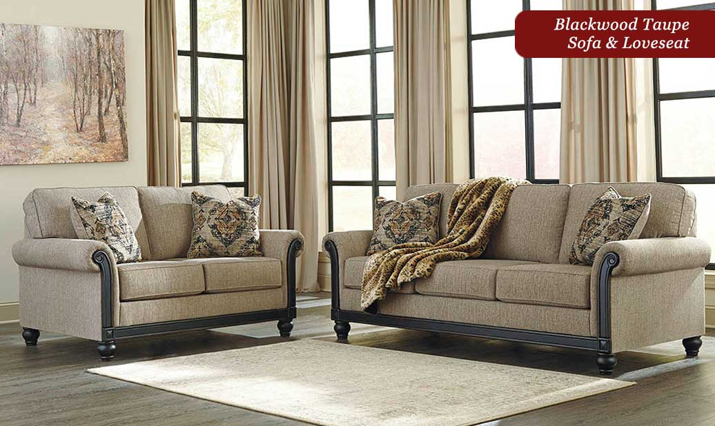 Blackwood Sofa and Loveseat