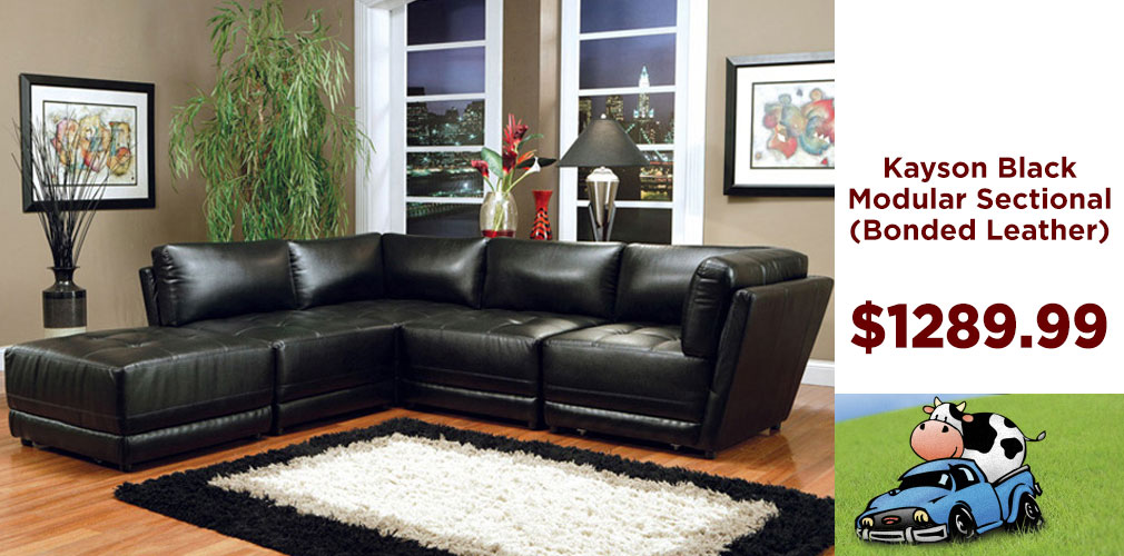 Kayson Black Sectional