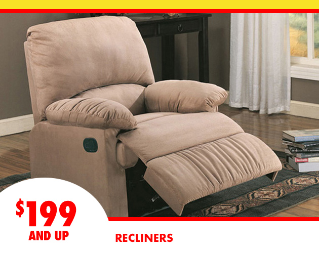 Recliners Starting at $199