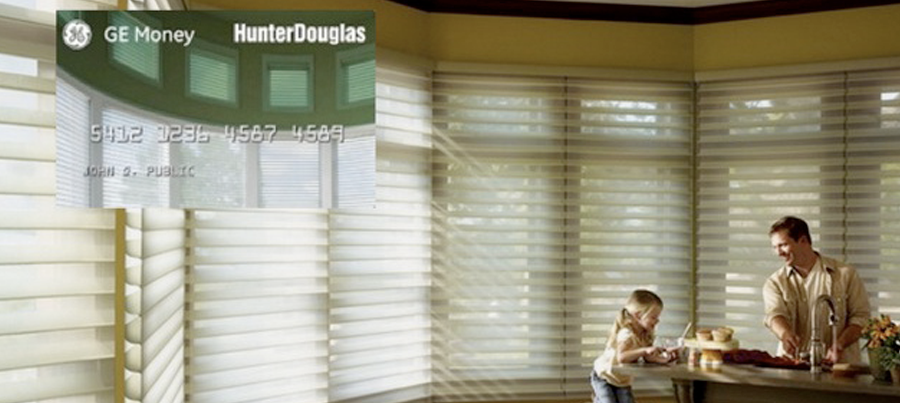 GE Money For Hunter Douglas Financing Options