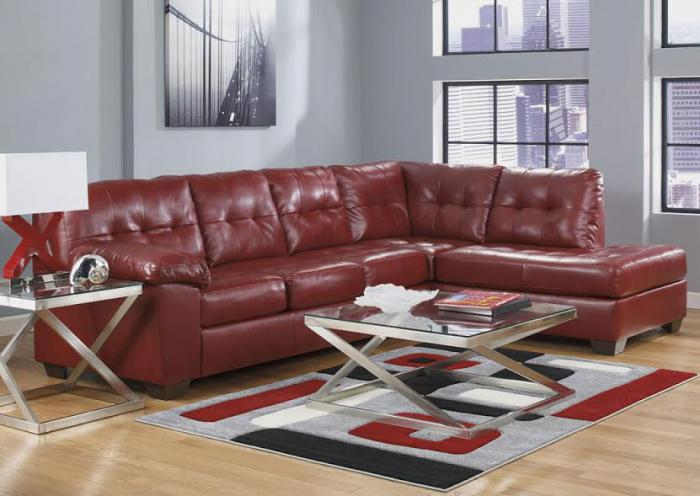 Alliston DuraBlend Salsa Left Facing Chaise End Sectional,Smart Buys Catalog