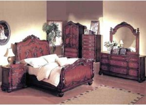 Richmond Sleigh 5 Piece Queen Bed Set