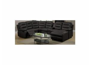 Espresso Leather Sectional with Recliners,Smart Buys Catalog