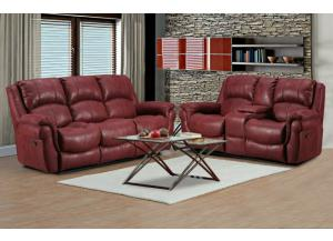 Behold Home Red Sofa & Loveseat