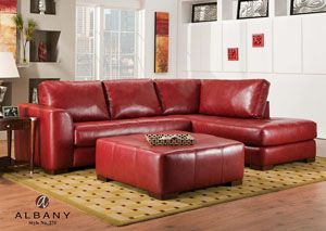 Como Bold Black Sectional (Shown in Red)