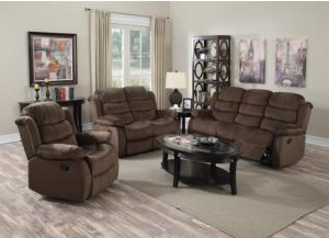 3 Piece Reclining Sofa, Loveseat and Reclining Chair