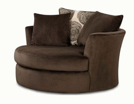 Groovy Chocolate Correlate Swivel Chair,Albany