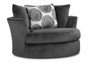 Groovy Smoke Correlate Swivel Chair,Albany