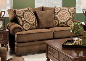 Twill Chocolate Loveseat