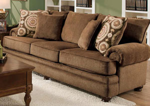 Twill Chocolate Sofa,Albany
