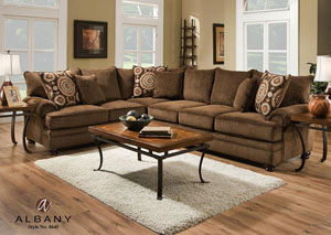 Twill Chocolate Sectional